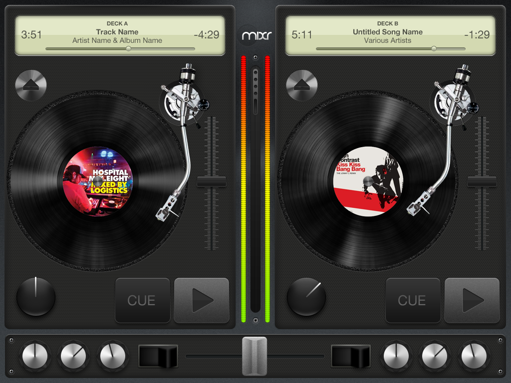 "Mixr on the iPad - Is it seriously going to be possible to ""large it on the decks"" with this?"