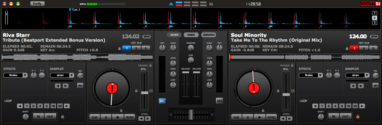 Digital DJing - waveriding with Virtual DJ