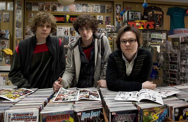 Geeks in comic shop