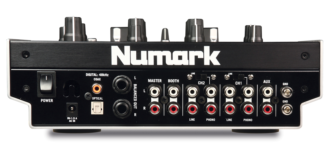 Numark X5 review - Rear