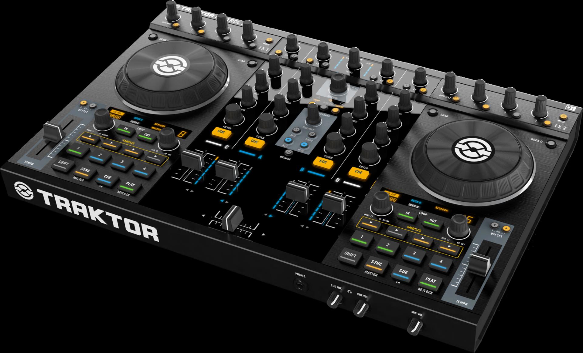 Traktor Kontrol S4 DJ controller.