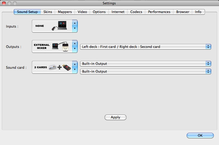 Setting up a sound card in Virtual DJ.