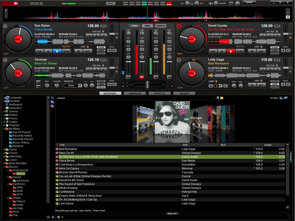 Virtual DJ Pro 7 4 decks