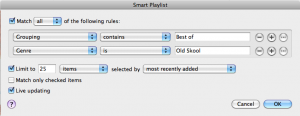 Making a smart playlist