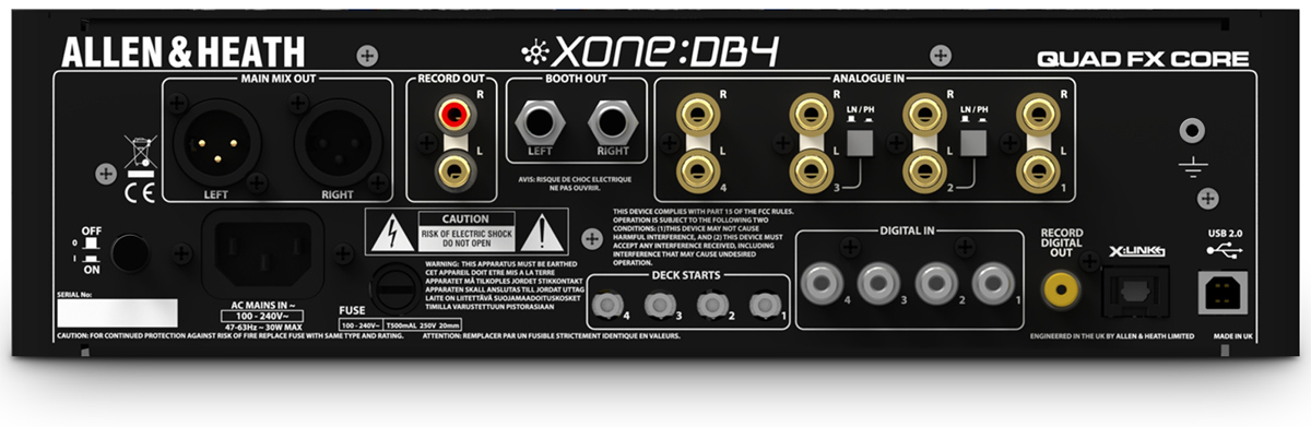 Xone:DB4 connectors