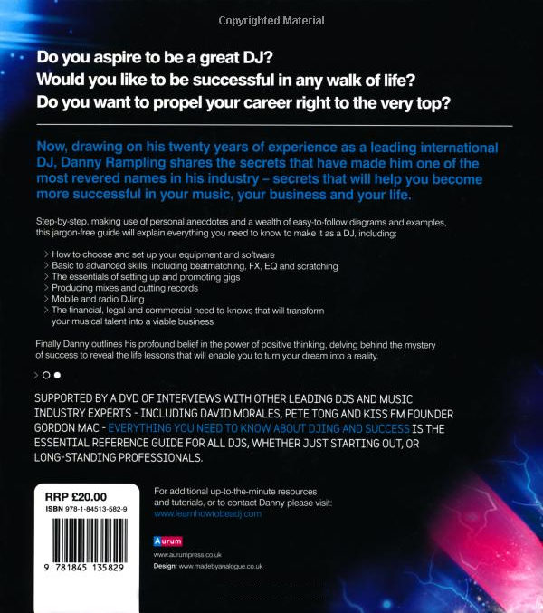 Everything You Need To Know About DJing and Success Back Cover