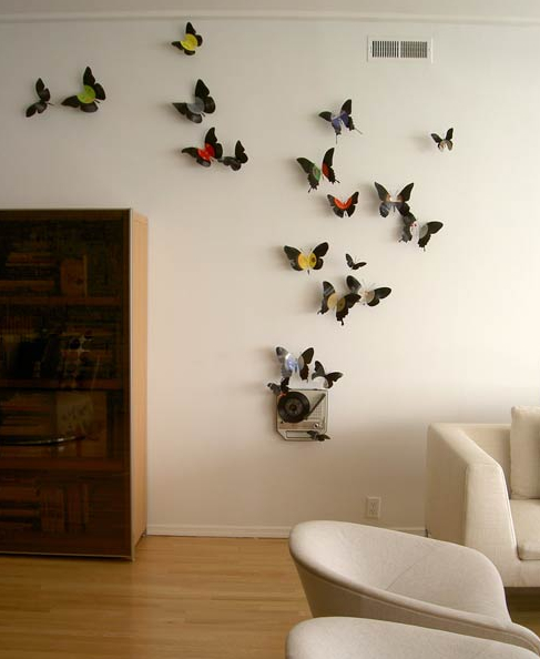 Vinyl butterflies