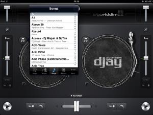 djay for iPad default track picker