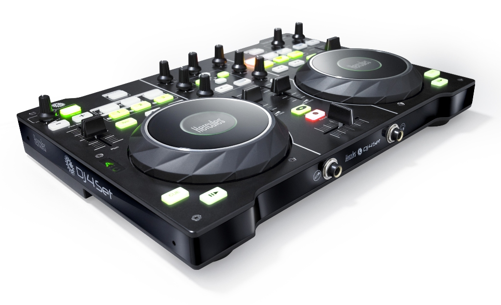 The Hercules DJ 4Set is the cheapest 4-deck DJ controller there is.