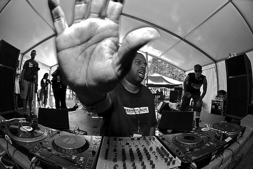 Theo Parrish Laptop DJing