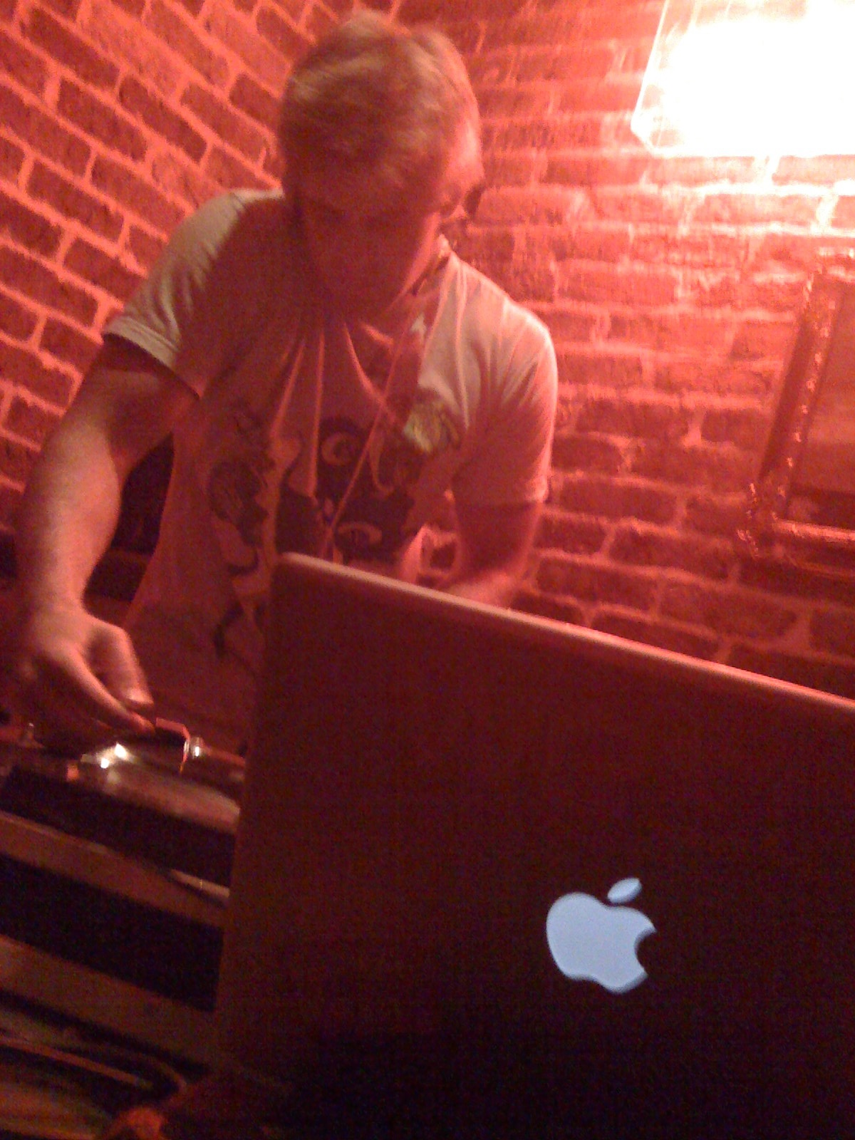 The glowing Apple is cool, but do you really need a Mac to DJ with? Pic: iCreate