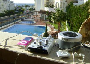 Pokket mixer DJ set-up