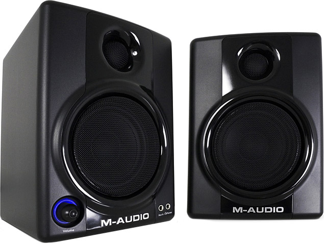 The M-Audio AV40 is a versatile, compact speaker for small spaces when you still want some volume for when the neighbours are out...