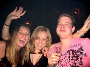 Drunken clubbers