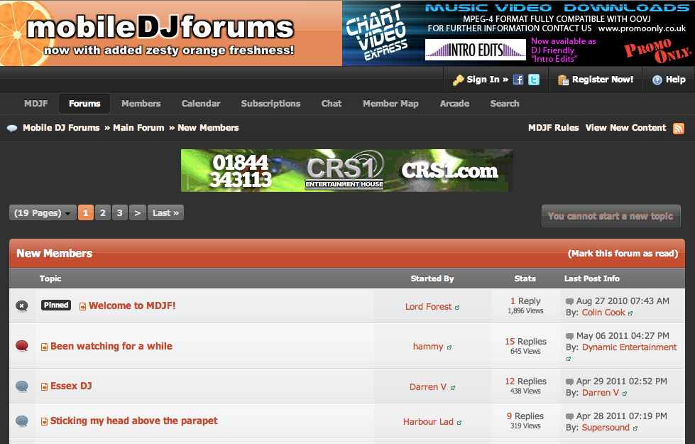 Mobile DJ forums