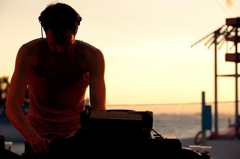 dj on the beach
