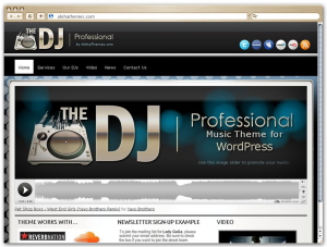 Professional DJ WordPress theme