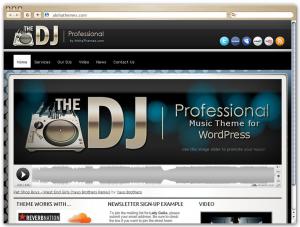 Professional DJ WordPress theme