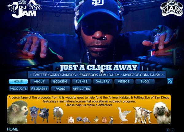 DJ Jam Website
