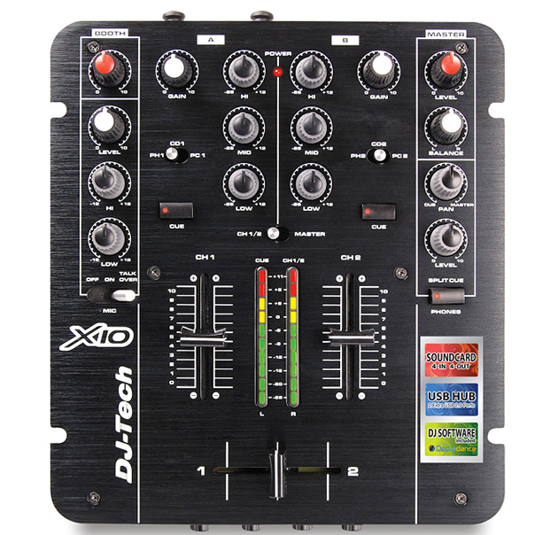 The DJ-Tech X10 looks like a timeless two-channel mixer... but it has some decidedly modern tricks up its sleeve.