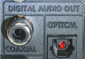 Coaxial and optical digital outputs