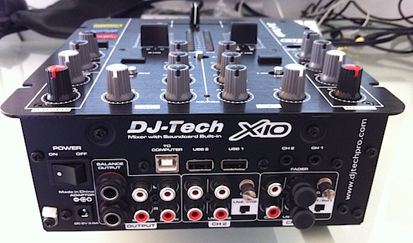 DJ Tech X10 review - back
