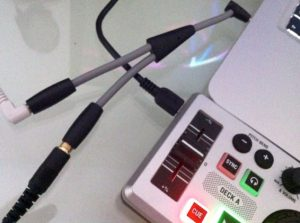 Numark DJ2GO plus splitter cable