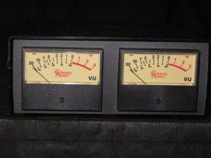 Old school VU meters