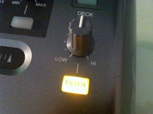 Pioneer DDJ-T1 filter knob