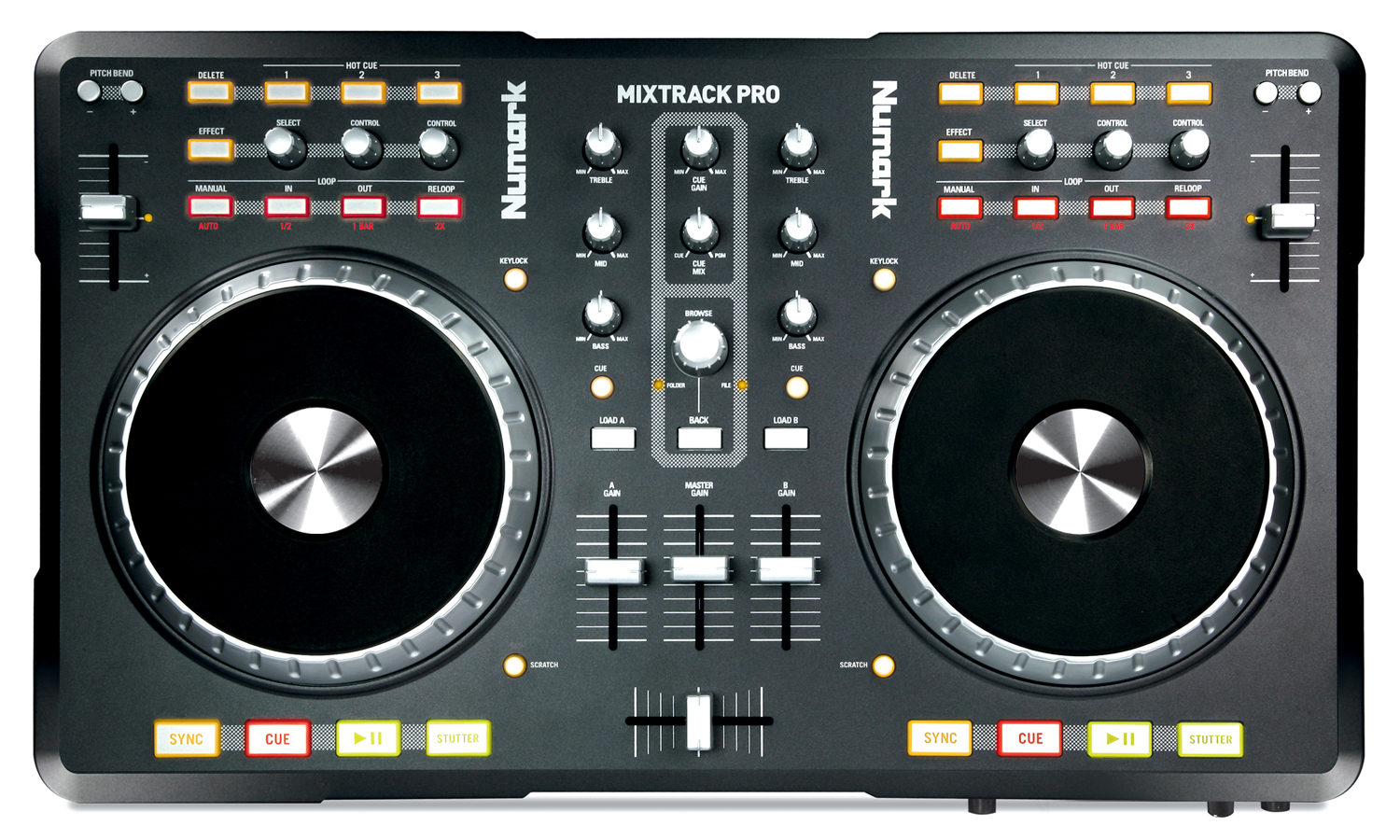 The Mixtrack Pro is a popular controller, and is even sometimes used in clubs - although it's not really intended for this purpose.