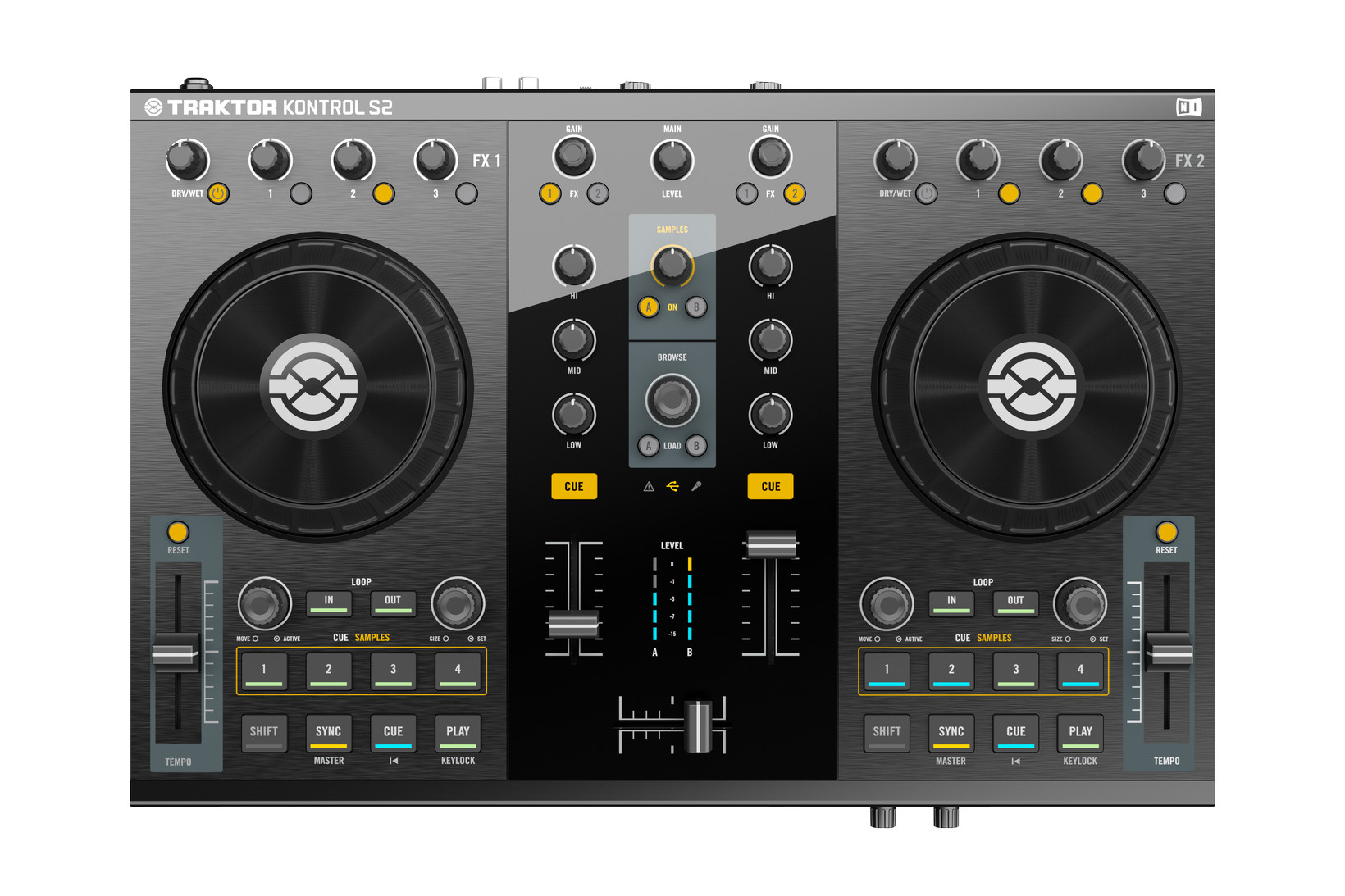 Smaller, lighter, more streamlined... the Traktor Kontrol S2 is the little brother to the popular Kontrol S2. Does it offer better value, though?