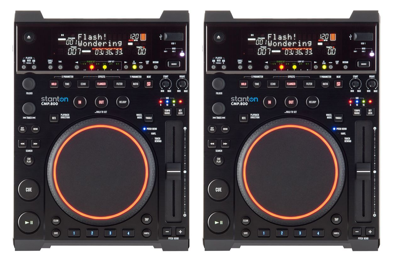 A pair of Stanton CMP.800s gives an awful lot of DJing flexibility for less than half the price of one Pioneer CDJ-2000.