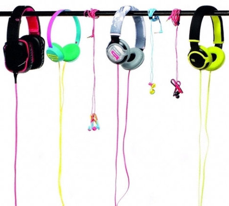 Hanging headphones