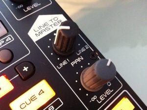 Denon MC3000 review Line to Master controls
