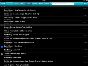DJ Player Track List Screenshot
