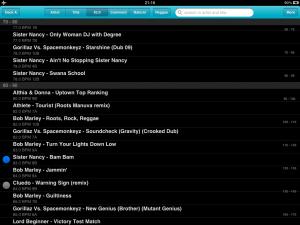 DJ Player Track List Screenshot