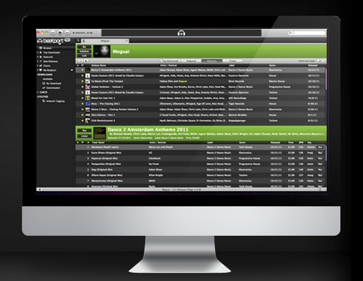 Beatport Pro brings Beatport's extensive catalogue to your desktop, complete with background listening.