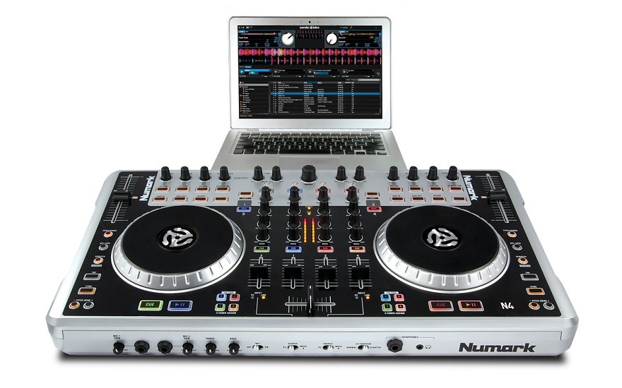 The Numark N4 offers full four-deck control and a host of pro features at a low price.