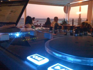 DJ booth beach bar