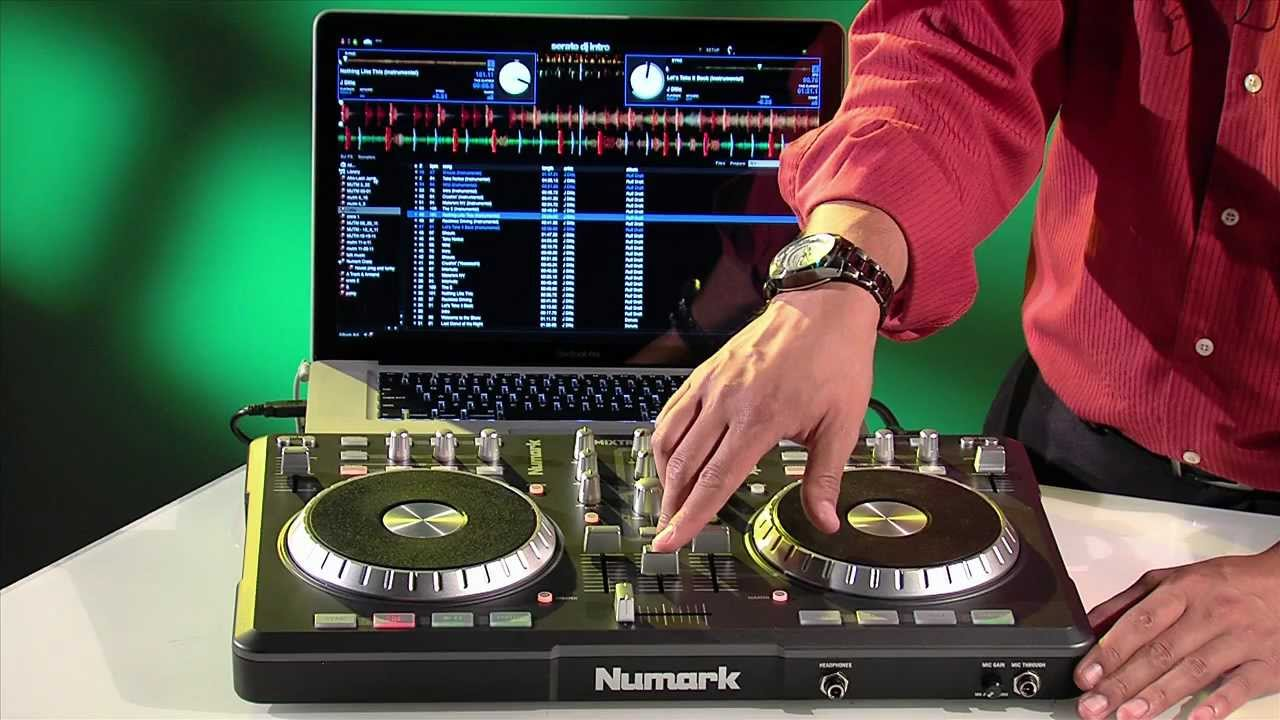 Serato Intro works great with the Mixtrack Pro... until you want to record your sets, that is. Pic from: Numark Video