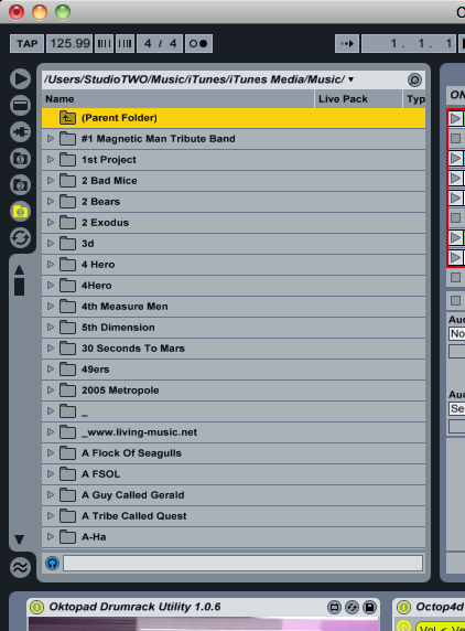 Ableton Live's browser