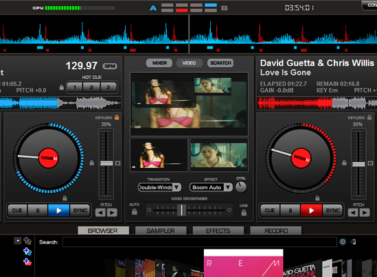 Virtual DJ video