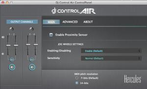 DJ Air control panel