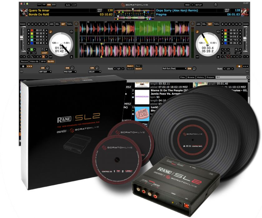 The Rane SL2 digital vinyl system comes with Serato Scratch Live, which is a full version and freely upgradable for life.