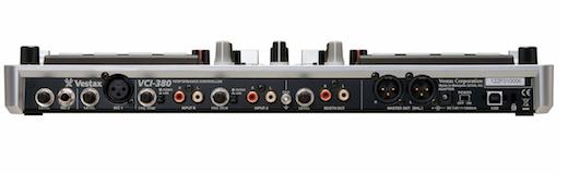 Vestax VCI-380 back