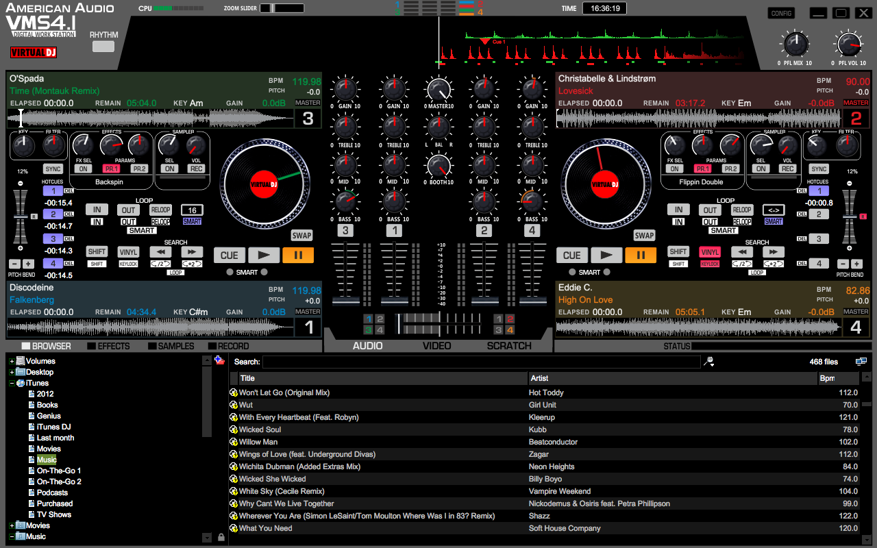 Virtual DJ for the American Audio VMS4.1