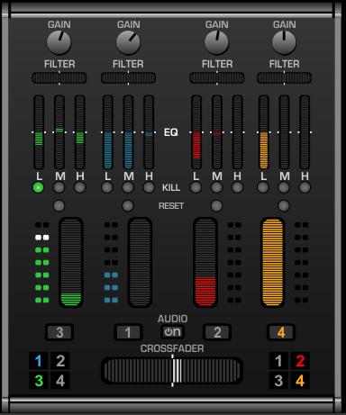Virtual DJ SCS.3 mixer