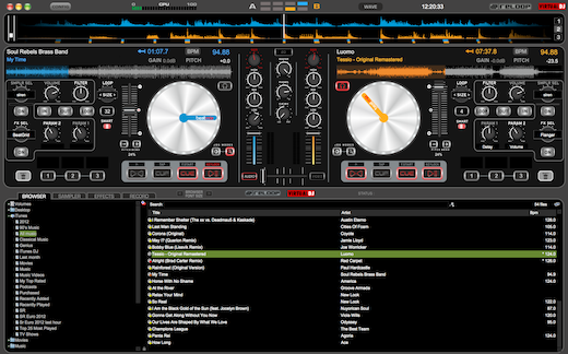 The Reloop Beatmix version of Virtual DJ LE