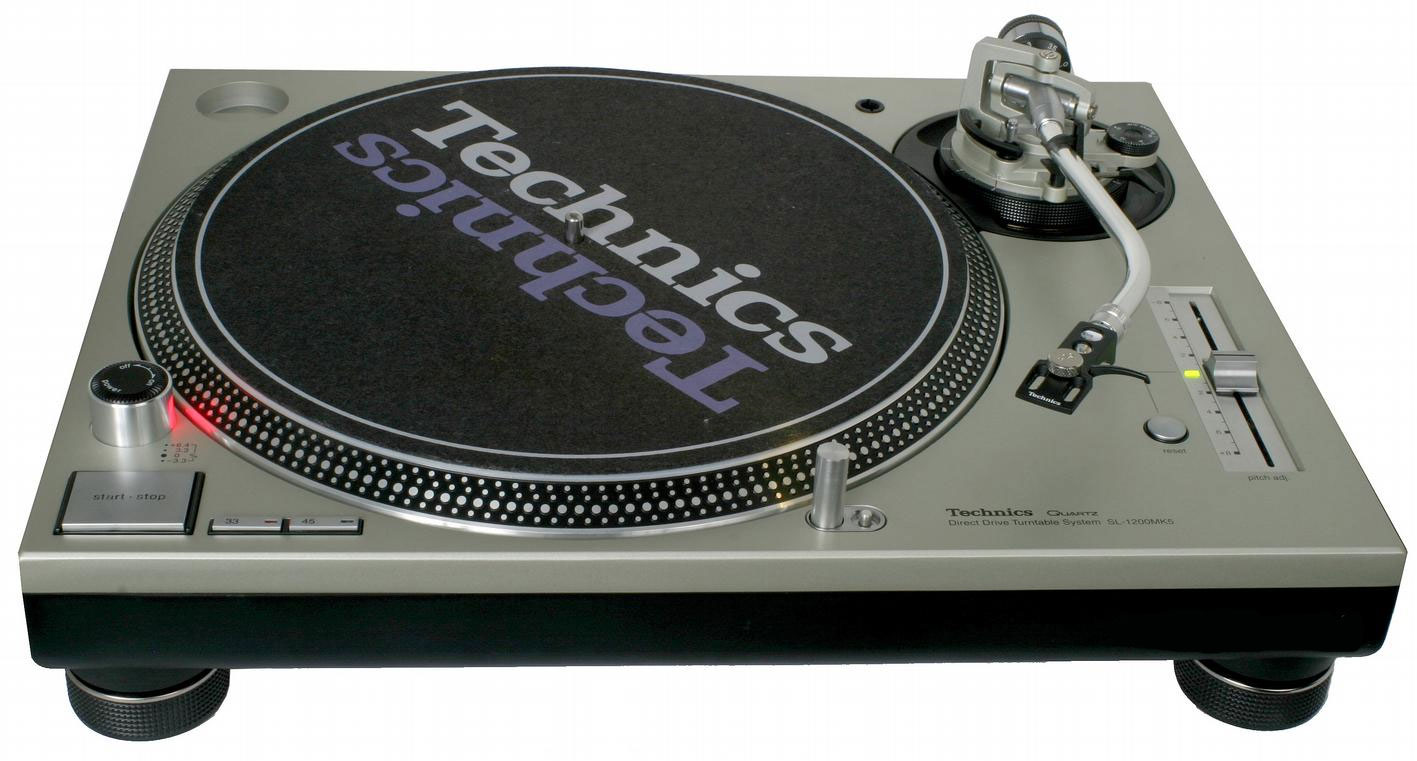 The Technics turntable pitch control, complete with centre click - just like our reader's Hercules RMX.