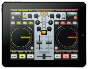 MixVibes Cross DJ 2.0's iPad remote control